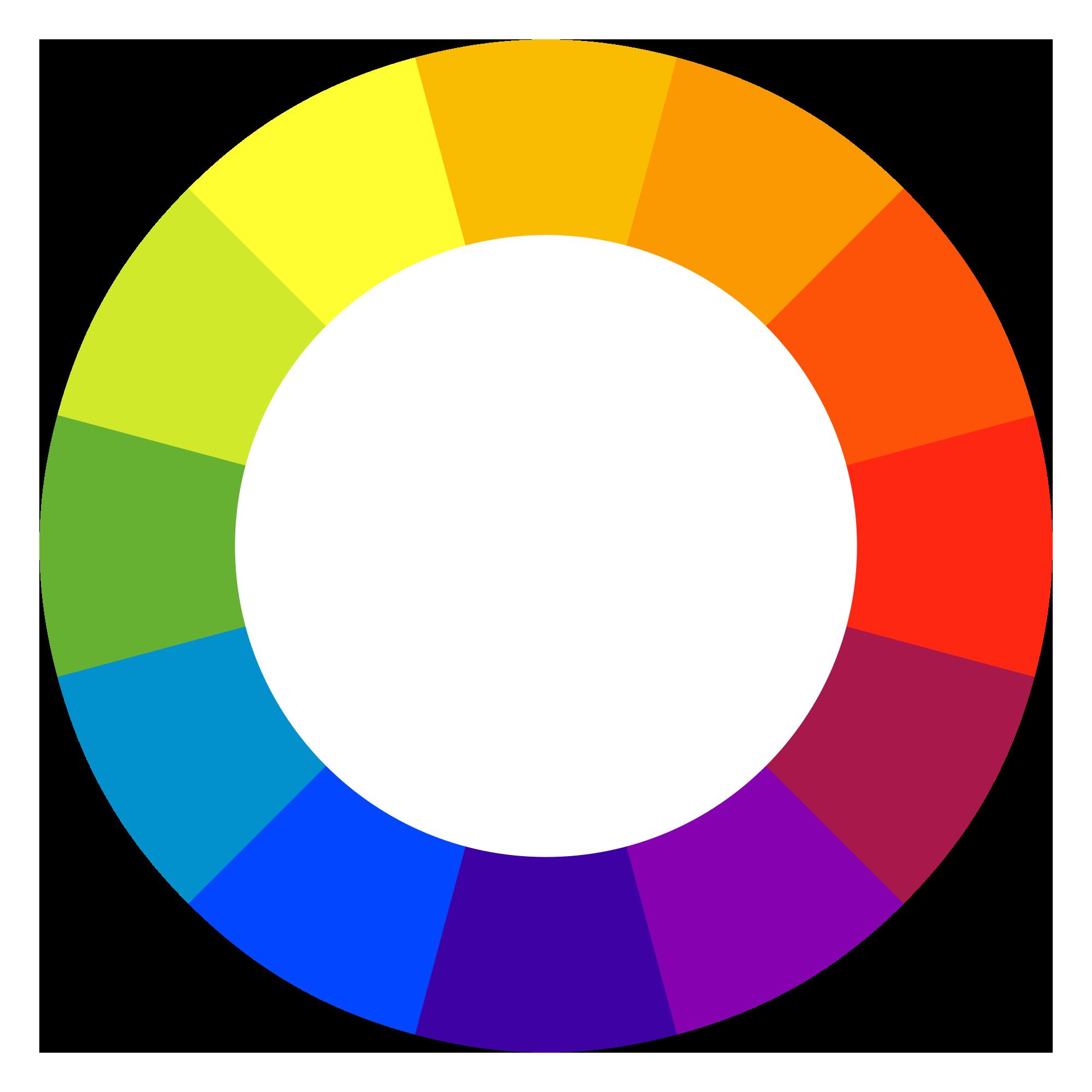 چرخه کامل رنگ ها